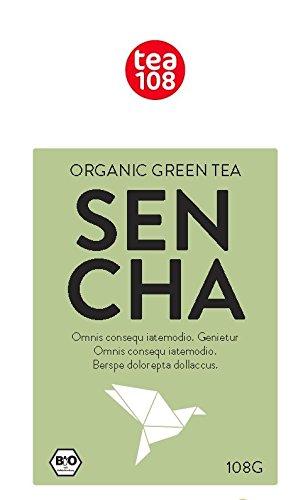 Sencha Black – fermentierter Sencha Tee Bio, eine Rarität für 88 Tassen – Bio Grüntee fermentiert, lose von Tea 108