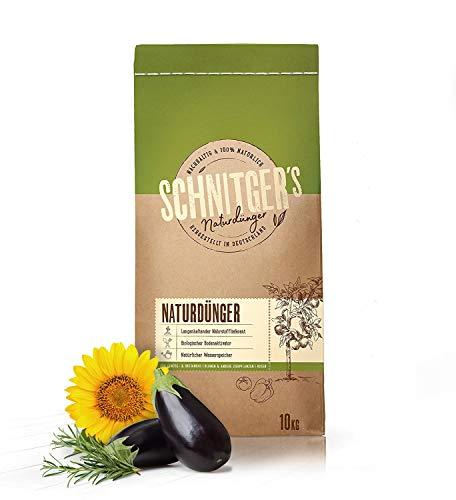 Naturdünger - Universal Pflanzendünger in Bio-Qualität - Langzeitdünger für gesunde Pflanzen und Blumen - Dünger von SCHNITGER's - 10kg - Bio-pflanze