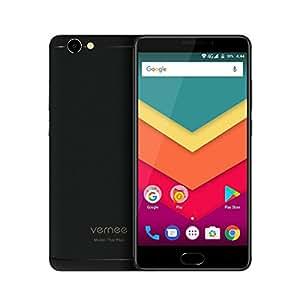 Vernee Thor Plus 4G Android 7.0 Smartphone Sbloccato,Schermo AMOLED da 5,5 pollici,3GB RAM 32GB ROM Octa Core,Telefono Dual Sim con Impronta Digitale,Grande Batteria 6200mAh,Fotocamere 8MP 13MP(Nero)