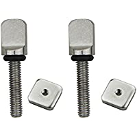 DORSAL Stainless Surf Thumb Fin Screw and Plate Surfboard Longboard Bag of 5/Universal