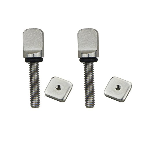 DORSAL Stainless Surf Thumb Fin Screw and Plate Surfboard Longboard Bag of 5/Universal -