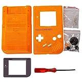 Timorn Ersatzgehäuse Shell Tasche für Gameboy GB Konsole (Transparent Orange)