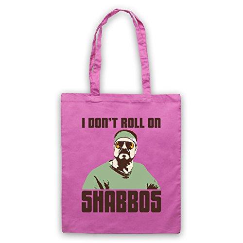 Inspiriert durch Big Lebowski I Don't Roll On Shabbos Inoffiziell Umhangetaschen Rosa