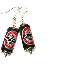 Pendientes de cerveza marca Becks