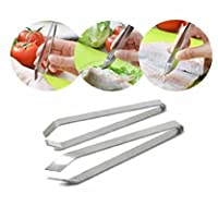 Pinza de pescado de acero inoxidable Youji® Pin deshuesadora de huesos Pinza desbastadora Herramienta de recolección de pinzas (paquete de 2)