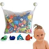 Spielzeug Netz Aufbewahrung Spielzeug Netz Saugnäpfe Badewanne Spielzeugnetz mit Haken für sicheren Halt Großes Badespielzeug Spielzeug Aufbewahrung für Kindern & Babys Befestigung ohne Bohren