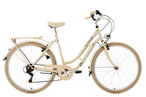 KS Cycling Damen Damenfahrrad Cityrad 28 Zoll Casino Beige 6 Gänge Fahrrad,
