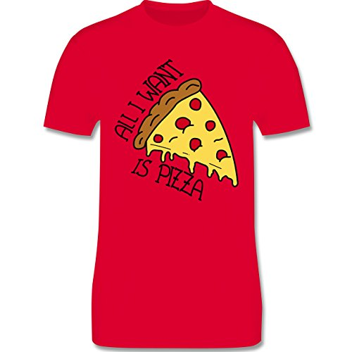 Statement Shirts - All I want is pizza - Herren Premium T-Shirt Rot