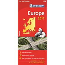 Carte Europe Michelin 2017