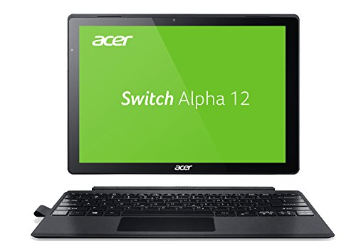 Acer Switch Alpha 12 (SA5-271-38U0) 30,5 cm (12 Zoll QHD Multi-Touch IPS) 2-in-1 Notebook (Intel Core i3-6006U, 4GB RAM, 256GB SSD, Win 10) silber