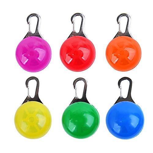 LED Cane Collare 6pcs Clip On Pet Luce Luci Colorate Impermeabili Clip su Luci di Sicurezza con Moschettone Acciaio InoxCani Gatti Escursioni