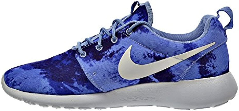 Nike Rosherun Print Herren Running Trainer 655206 Sneaker Schuhe UK 6 US 7 EU 40 Aluminium weiß Persischen violett