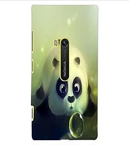 ColourCraft Cute panda Design Back Case Cover for NOKIA LUMIA 920