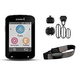 Garmin Edge 820 Bundle - Ordenador para Bicicletas, Resolución de pantalla 200 x 265 píxeles, Pantalla táctil, Receptor de alta sensibilidad, Negro