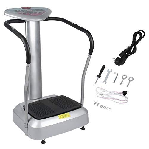 ALTERDJ Vibrationsplatte, Vibration Trainings-Gerät für Bauch Beine Massage - effektiver Vibrationstrainer - 4 Programme - 2 Fitnessbänder - Steuerpult mit LED Anzeige, Balancetraining