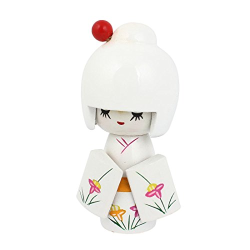 sourcingmap® In Legno Tradizionali Kimono Giapponese Bambola