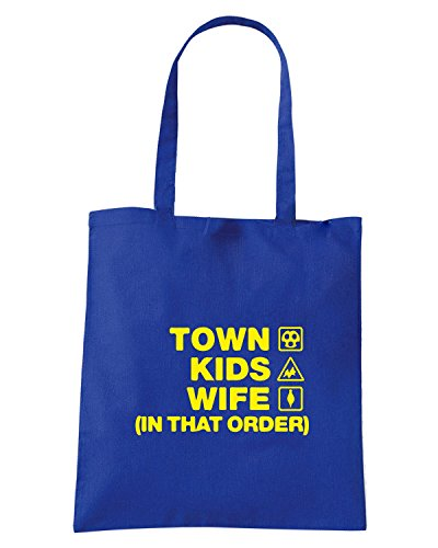 T-Shirtshock - Borsa Shopping WC1263 mansfield-town-kids-wife-order-tshirt design Blu Royal