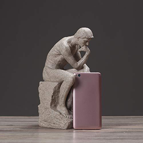 C&JUAN Escultura de meditador Pensador