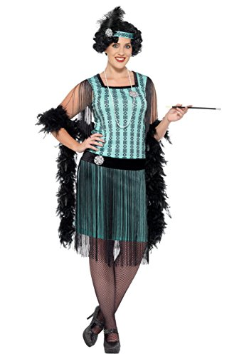 Women's Plus Size 1920s Mint Coco Flapper Fancy dress costume 1X