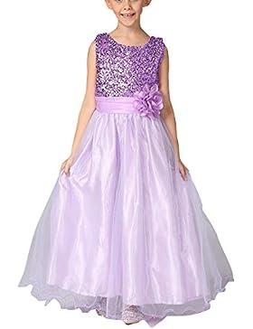 Vestido Elegante De Princesa Para Niña De Ceremonia Vestido Largo De Fiesta Con Lentejuelas Brillantes
