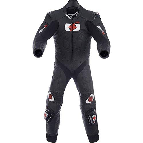 Preisvergleich Produktbild Oxford RP-2Motorrad Leder-Anzug, Onepiece, Schwarz, 101,6cm, M