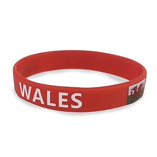 TRIXES Walisisch Silikon World Cup Armband für Sportveranstaltungen Olympiade und nationale Events
