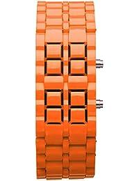 0da2eee8e6f6 Nuevo Iron Samurai Metal Pulsera Reloj LED Relojes Digitales Hora Hombres  Mujeres Bonitos Relojes Elegantes Relojes