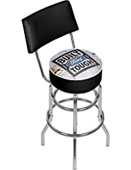 Trademark Gameroom Ford Swivel bar Stool with Back - Built Ford Tough by Trademark Gameroom