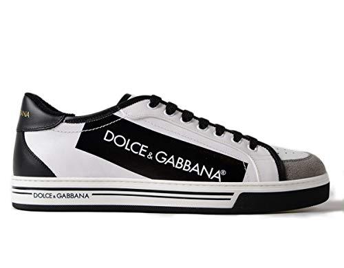 Dolce & Gabbana , Herren Sneaker Weiß Weiss SCHWARZ, Weiß - Weiss SCHWARZ - Größe: 39 EU