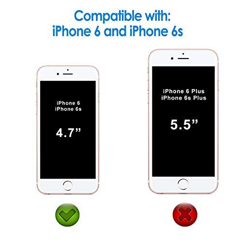 JETech 0803-  2 Unidades Protector de Pantalla para iPhone 6s iPhone 6 4, 7 Vidrio Templado