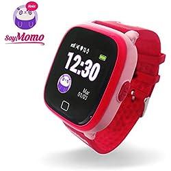 SoyMomo H2O- Reloj Inteligente para Niños, GPS, Botón SOS, Llamadas y Mensajes, Resistente al Agua