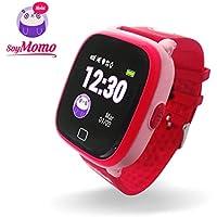 SoyMomo H2O Telefono pequeño y Seguro para niños con GPS. (Rosado)