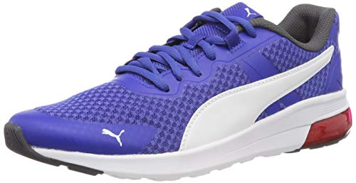 Puma Electron, Scarpe da Fitness Unisex-Adulto, Blu (Surf The Web White-Asphalt-High Risk Red), 42 EU