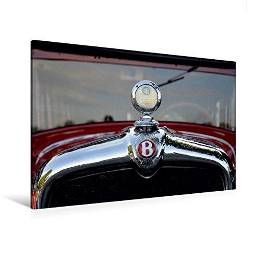 Premium Textil-Leinwand 120 cm x 80 cm quer, Oldtimer Kühler | Wandbild, Bild auf Keilrahmen, Fertigbild auf echter Leinwand, Leinwanddruck: Bentley (CALVENDO Mobilitaet) (Bentley-kühlerfigur)