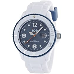 Ice-Watch Men's Quartz Watch with Blue Dial Analogue Display and White Silicone Strap SI.WJ.B.S.11