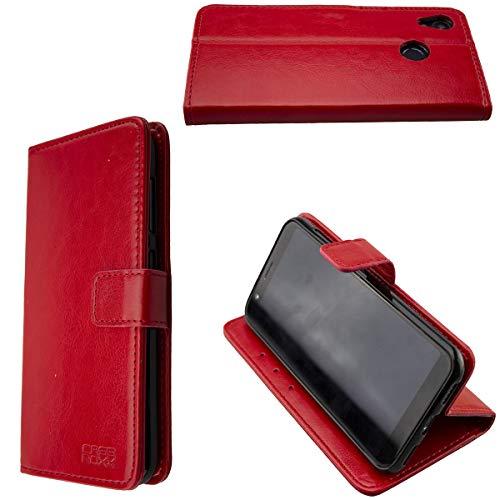 caseroxx Hüllen/Cases für das Gigaset GS185 (Bookstyle-Case, rot)