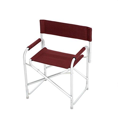 GFL Chaises Chaises Pliantes extérieures de Plage de pêche de Camping de 2.62KG en Aluminium de Chaise Pliante (A++) (Couleur : Vin Rouge)