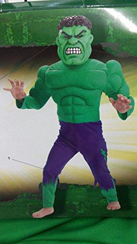 Costume hulk con maschera 8-10 anni