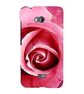 Fabcase pink rose petals beautiful love girlfriend valentines day simple Designer Back Case Cover for Micromax Bolt Q336