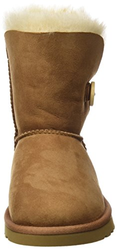 UGG Australia K's Bailey Button, Scarpe Walking Baby Unisex-Bambini Marrone (Braun/Chestnut)