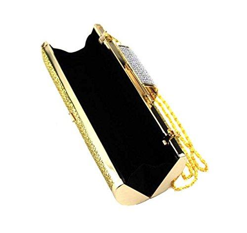 Personalità Borsa Temperamento Reale Paillettes Sera Delle Signore Ragazze Sacchetto Di Frizione Gold