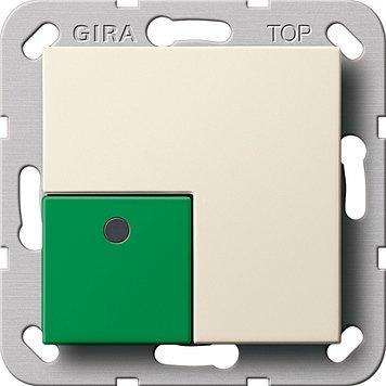 Gira 290801 Anwesenheitstaster Grün Syst em 55 Cremeweiß