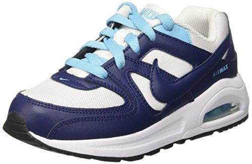 Nike Air Max Command Flex Ps, Zapatillas Niñas, Blanco (White/Binary Blue/Vivid Sky/Black), 30 EU