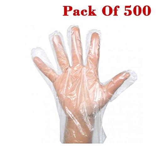 Beauty360 PE disposable gloves Transparent Waterproof non-toxic harmless tasteless Salud y cuidado personal Cuidado y limpieza del hogar Productos y utensilios de limpieza Utensilios de limpieza 25 cm, 10 Inches (500 piezas)