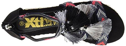 XTI - 046902, Sandali con cinturino Donna Nero
