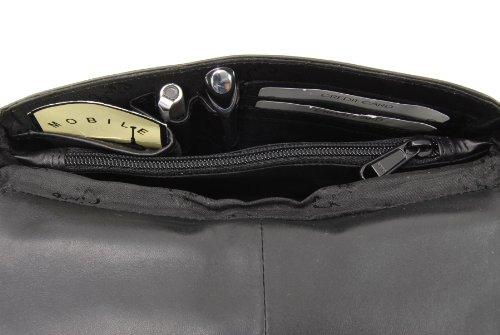 Organizer-Umhängetasche aus Leder von Gigi - GRÖßE: B: 22 cm, H: 14 cm, T: 5 cm Schwarz