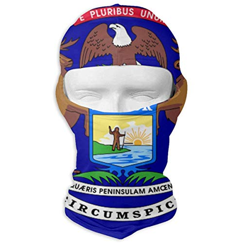 Neck Scarf Sunscreen Hats Ski Mask Michigan State Flag Sun UV Protection Dust Protection Wind-Resistant Gesichtsmaske for Running Cycling Fishing (Michigan Fishing)