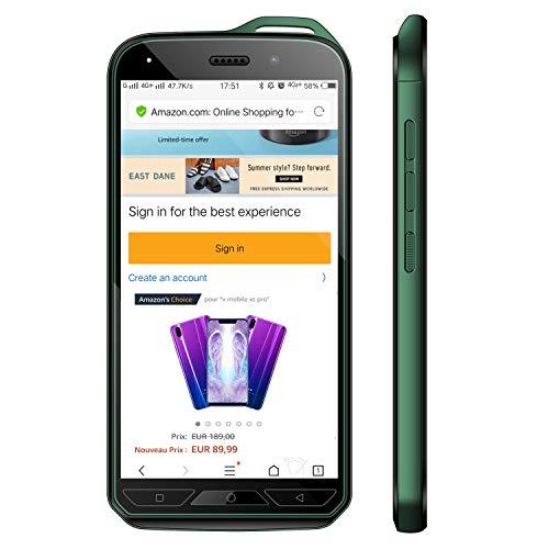 VMOBILE X6 Téléphone Portable Débloqué 4G, 16Go ROM(Ecran: 5.2' IPS HD - Caméras 8.0MP - Android 7.0-2800mAh Batterie au Lithium) Smartphone Pas Cher 4G Radio FM WiFi Dual SIM 4G sans Forfait (Noir)