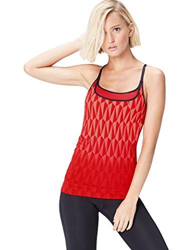 Activewear Top Damen, Rot (Red/peach), 42 (Herstellergröße: X-Large)