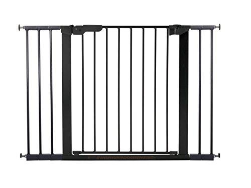 BabyDan Premier Türschutzgitter / Treppenschutzgitter zum Einklemmen, Schwarz, 73,5–112,8cm